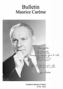 Bulletin Maurice Carême - 2012