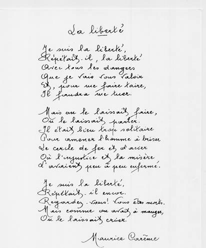 La liberté - Maurice Carême