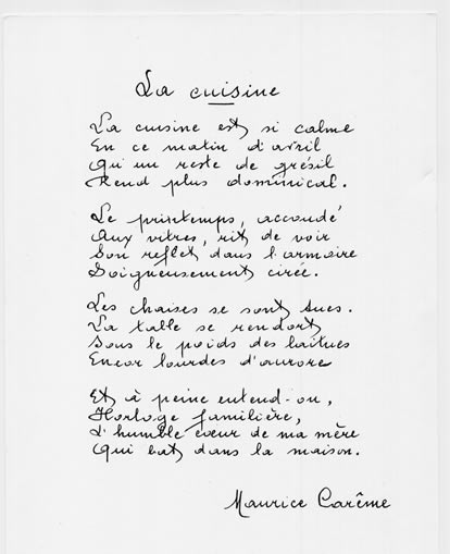 Maurice Carême  Poèmes